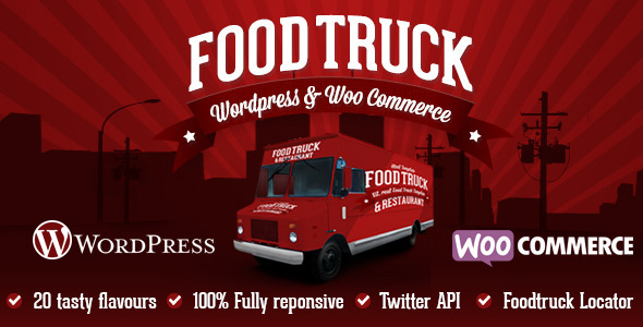 Food Truck & Restaurant 20 Styles – WP Theme