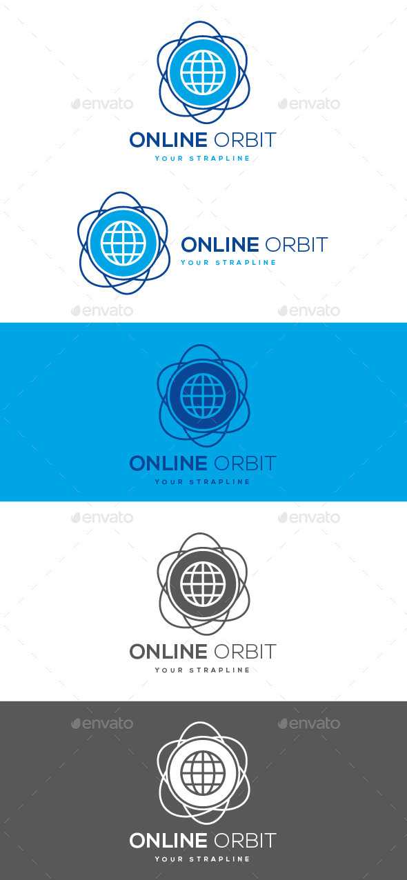 Online Orbit Logo - Symbols Logo Templates
