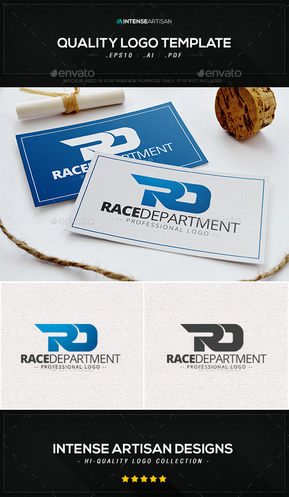 Race Department Logo Template - Letters Logo Templates