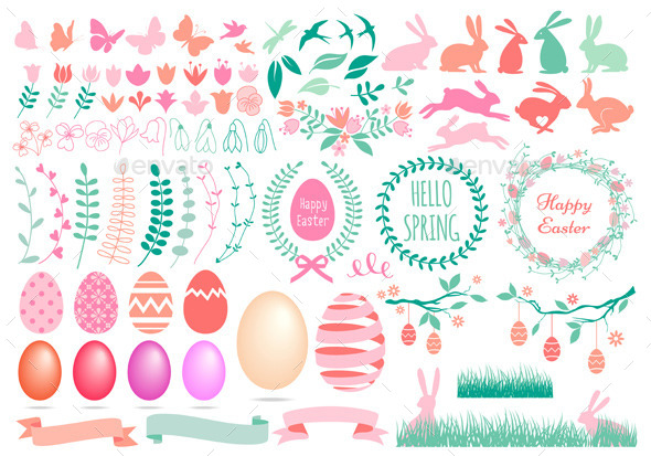 Happy Easter Set - Miscellaneous Seasons/Holidays