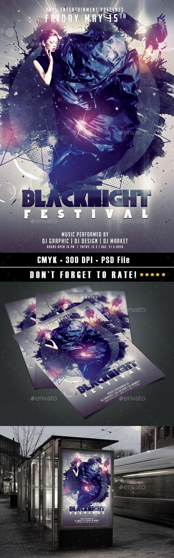 Blacknight Festival - Events Flyers