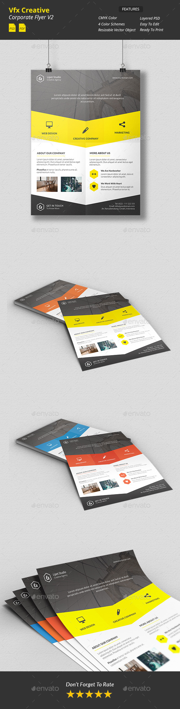 Vfx - Creative Corporate Flyer v2 - Corporate Flyers