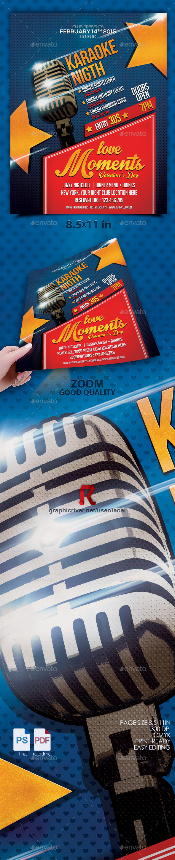 Karaoke flyer vol 4 - Clubs & Parties Events