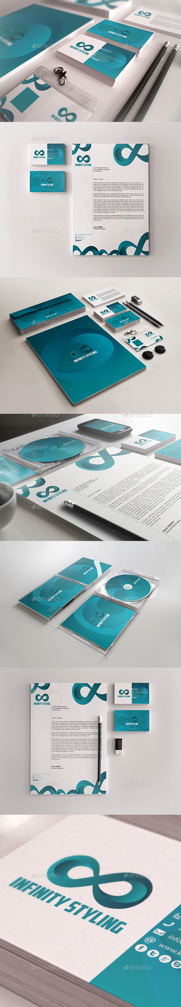 Infinity Styling Corporate Identity Package - Stationery Print Templates