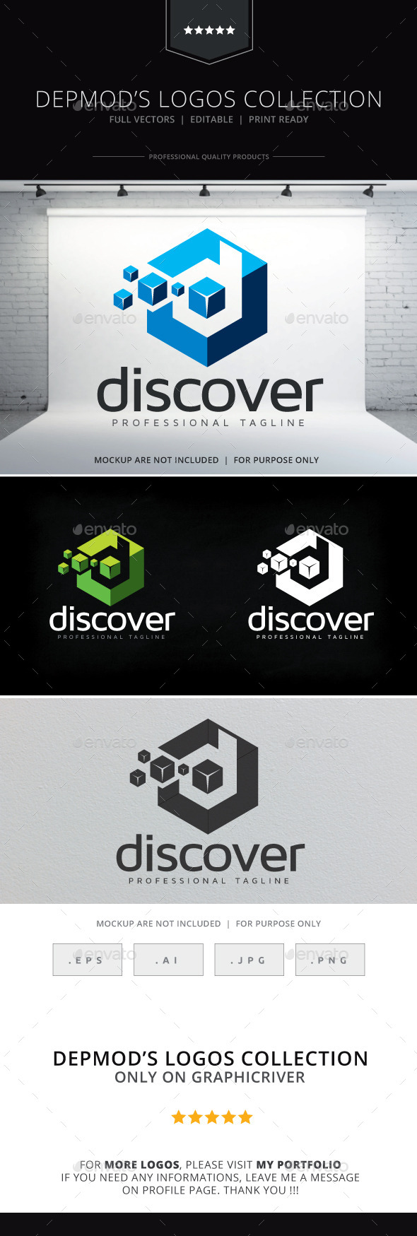 Discover Logo - Letters Logo Templates