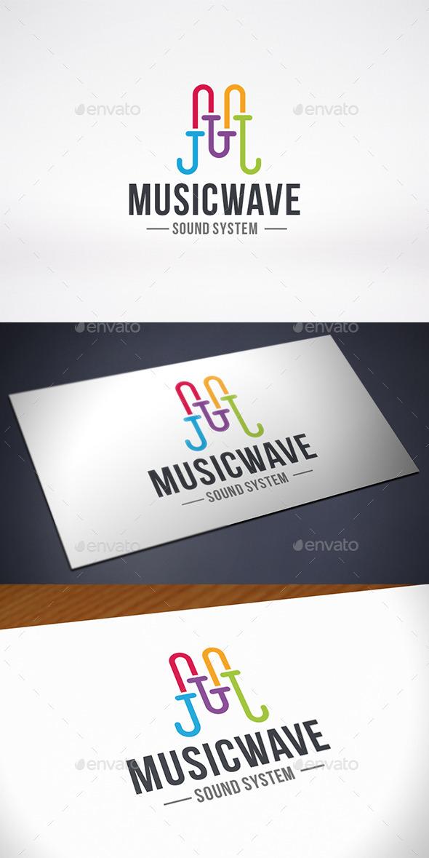Wave Letter M Logo Template - Letters Logo Templates