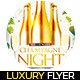 Champagne Night Flyer - GraphicRiver Item for Sale