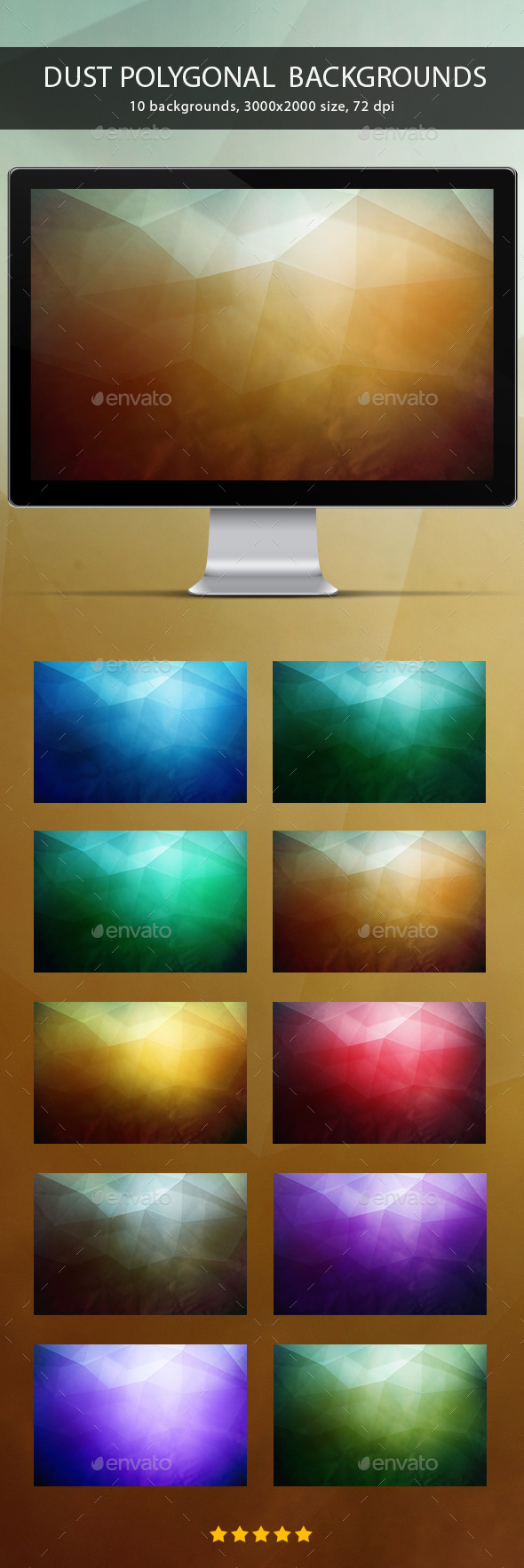Dust Polygonal Backgrounds - Abstract Backgrounds