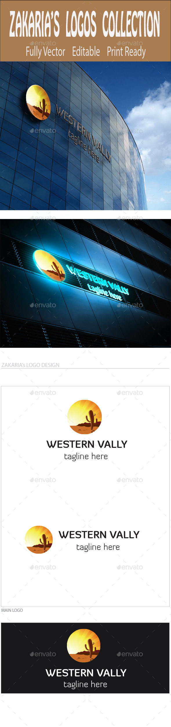 Western Valley - Nature Logo Templates