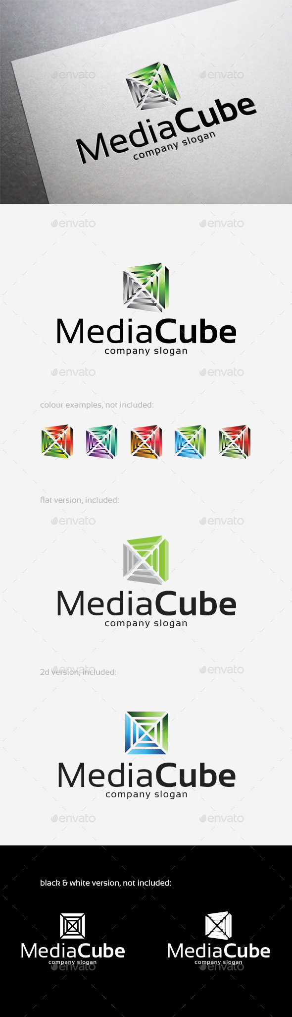 Media Cube Logo - Abstract Logo Templates