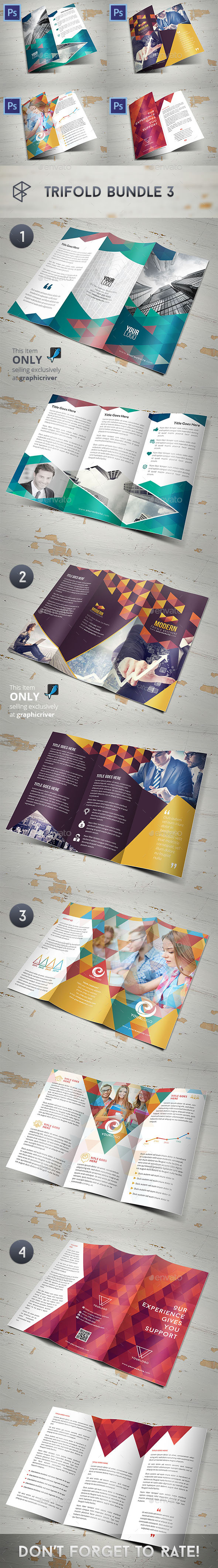 Trifold Bundle 3 - Corporate Brochures