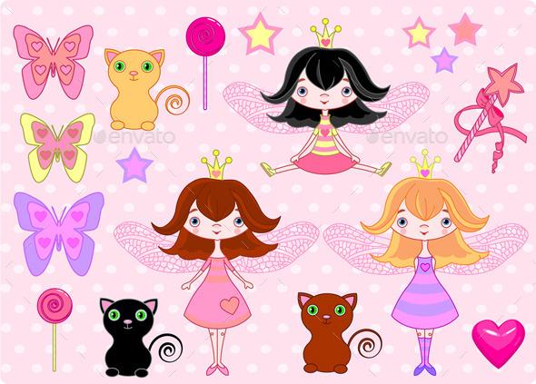 Little Girls - Decorative Symbols Decorative