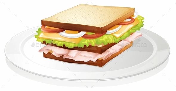 Sandwich  - Food Objects