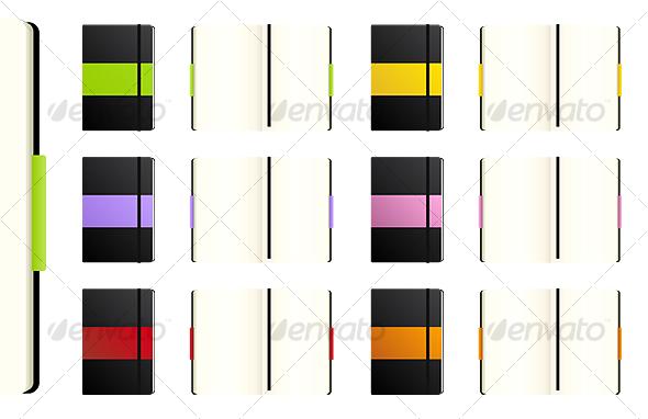 Color Notebooks - Miscellaneous Vectors