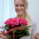 Happy Young Woman With A Bouquet Of Flowers - VideoHive Item for Sale