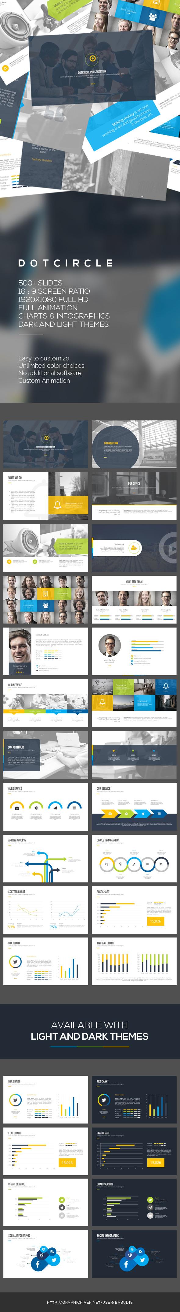 Dotcircle PowerPoint Template - PowerPoint Templates Presentation Templates