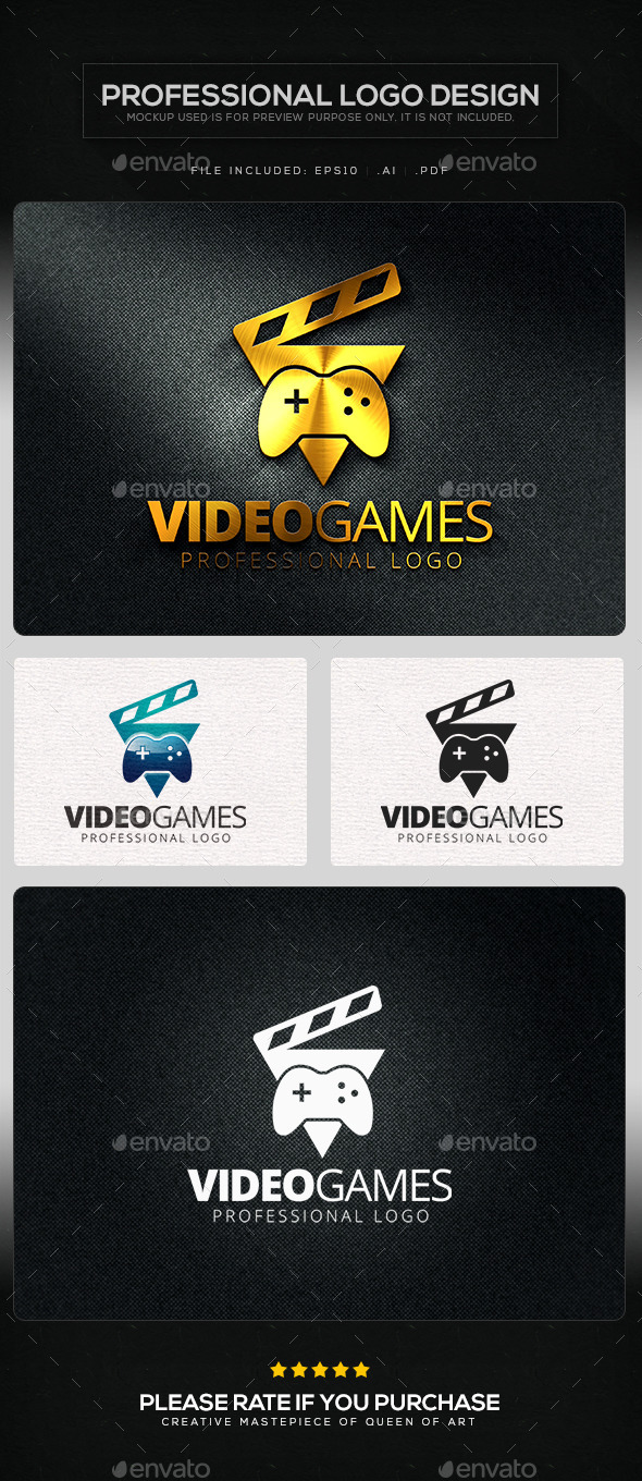 Video Games Logo Template - Symbols Logo Templates