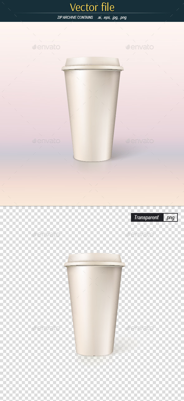 Paper Cup for Coffee - Man-made Objects Objects