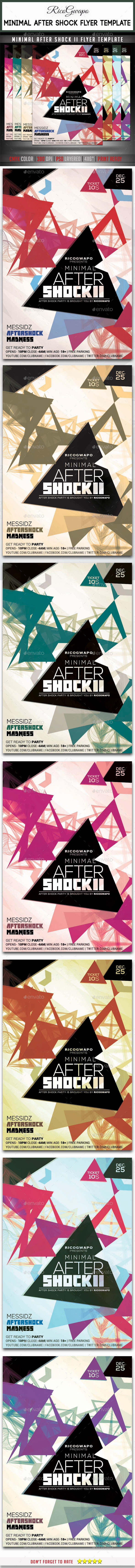 Minimal After Shock II Flyer Template - Events Flyers