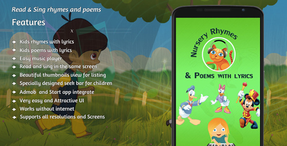 Nursery rhymes and poems with lyrics - CodeCanyon Item for Sale