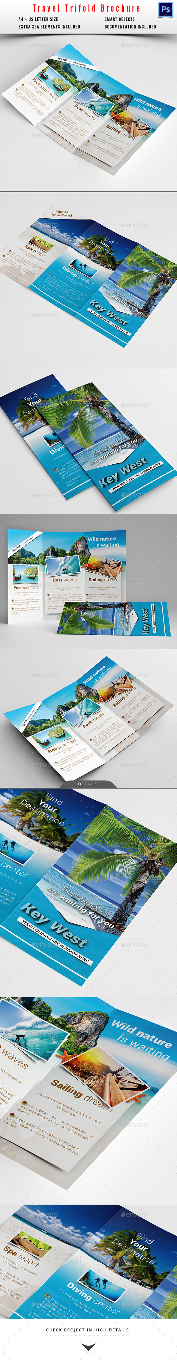 Travel / Holiday Trifold Brochure - Informational Brochures