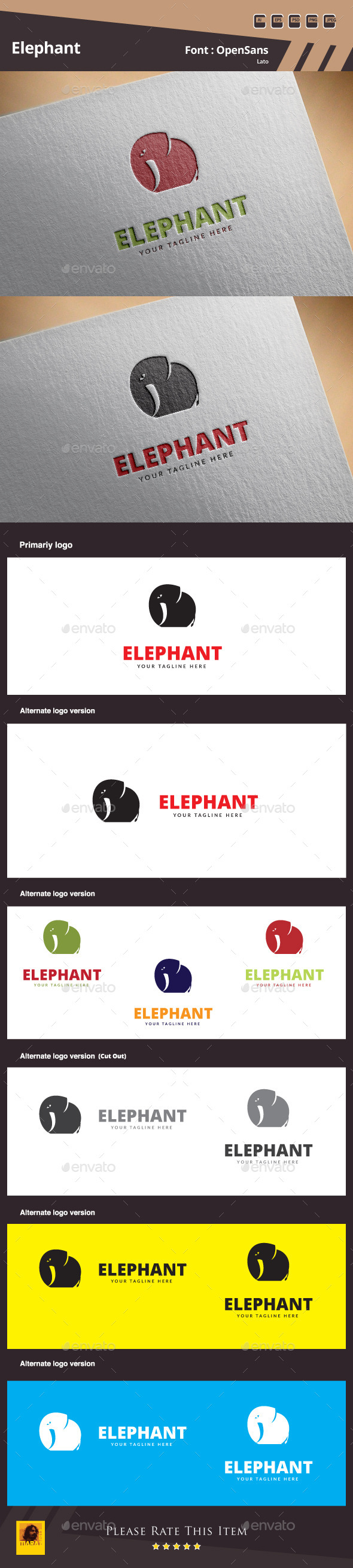 Elephant Logo Template - Animals Logo Templates