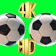 Soccer Ball On A Green Screen - VideoHive Item for Sale