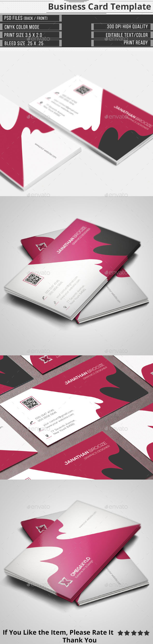 Elegant Corporate Business Card - Corporate Business Cards