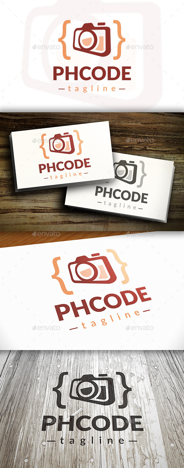 Photo Code Logo Template - Objects Logo Templates