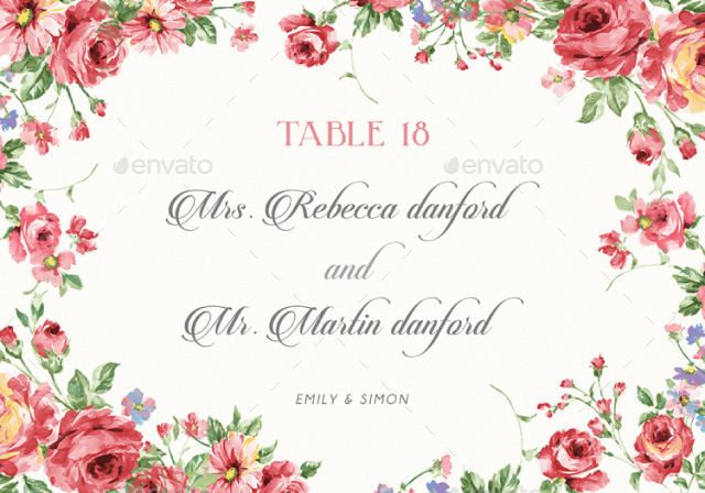Rustic Floral Wedding Invitations by BNIMIT – Floral Wedding Invitations