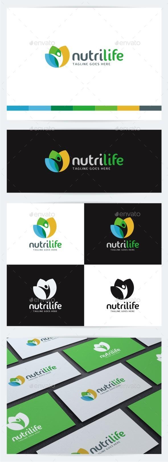 Nutri Life - Humans Logo Templates