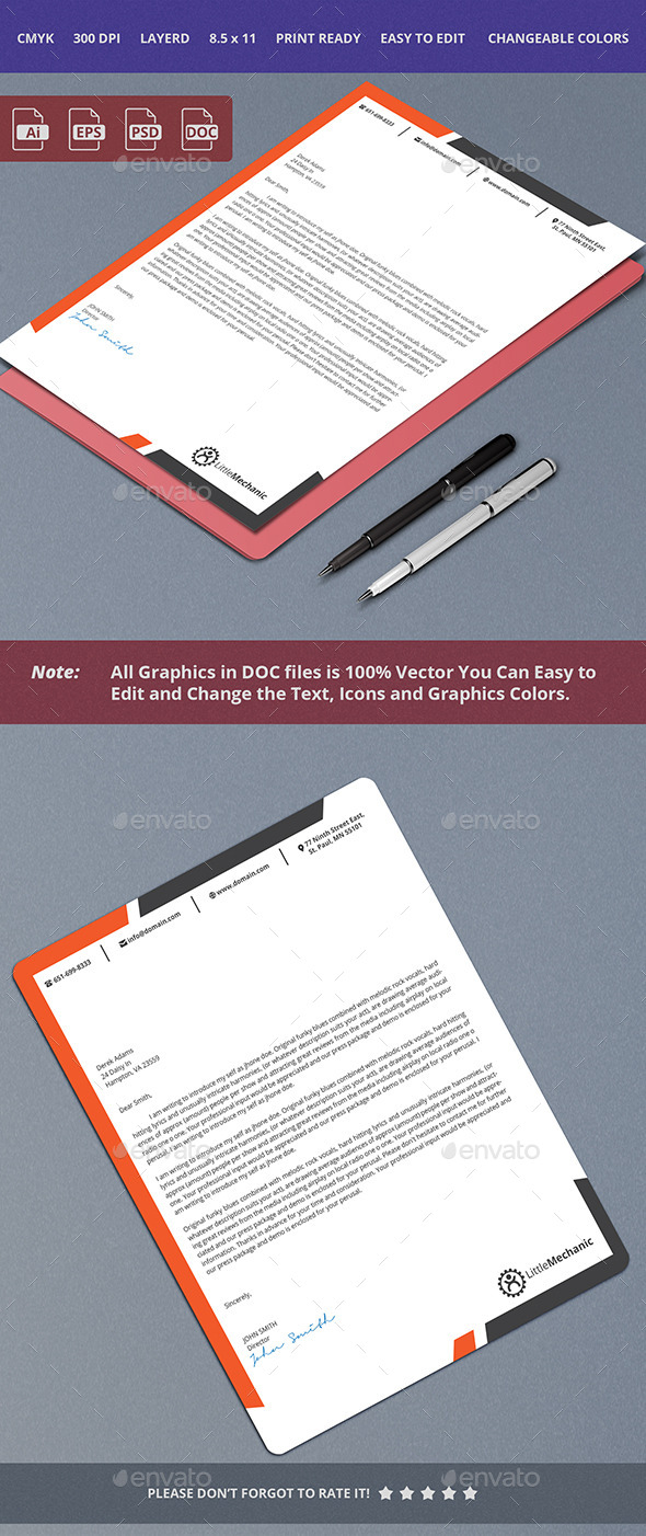 Corporate Letterhead Design - Stationery Print Templates