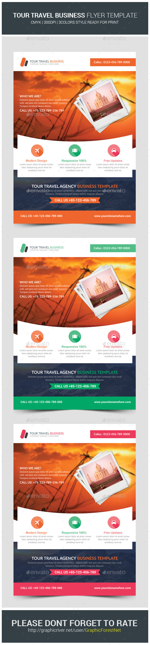 Travel Tours Business Flyer Template - Corporate Flyers