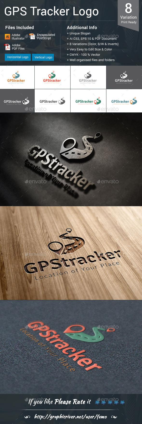 GPS Tracker Logo - Symbols Logo Templates