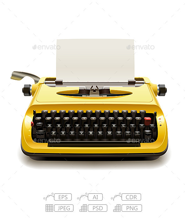 Old Typewriter - Man-made Objects Objects