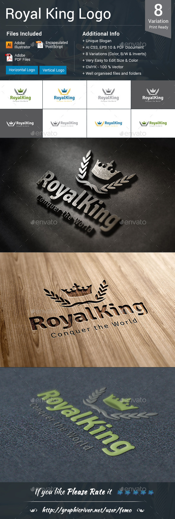 Royal King Logo - Crests Logo Templates