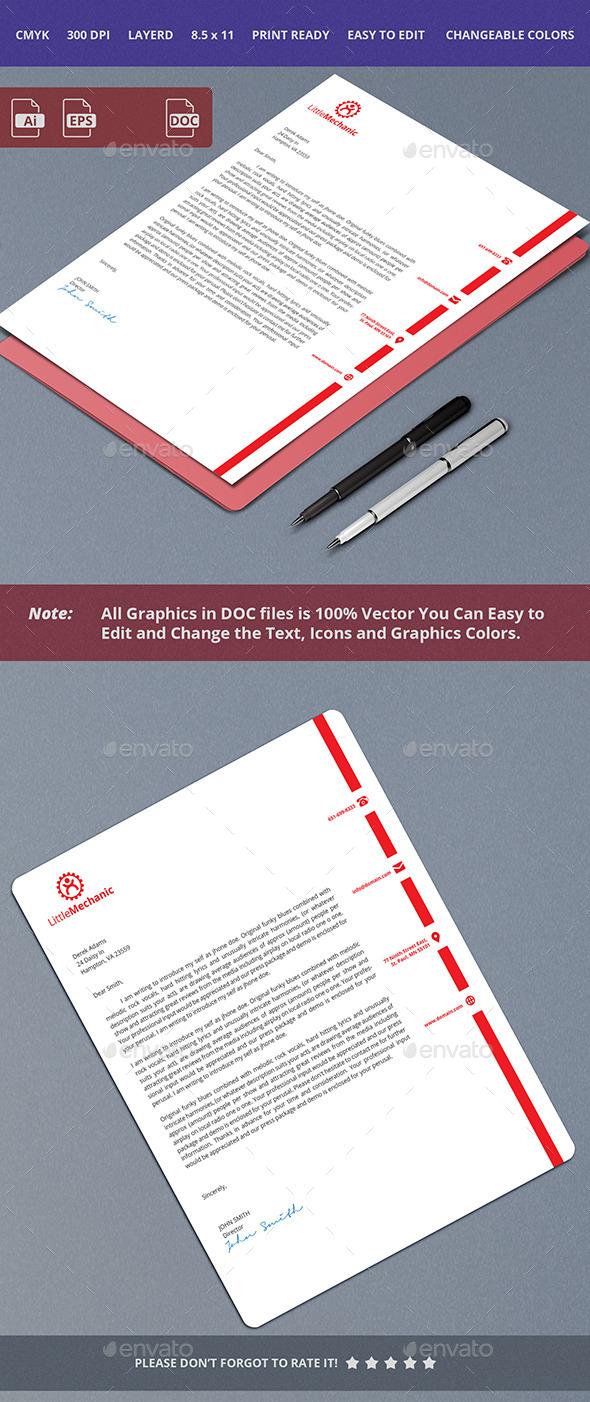 Simple Letterhead Design - Stationery Print Templates