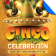 Cinco De Mayo Celebration Flyer Template - GraphicRiver Item for Sale