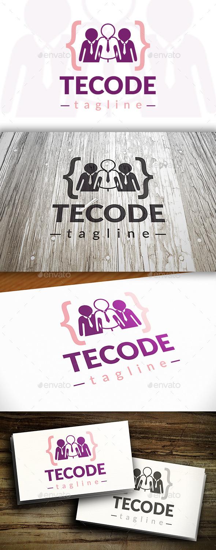 Team Code Logo - Humans Logo Templates