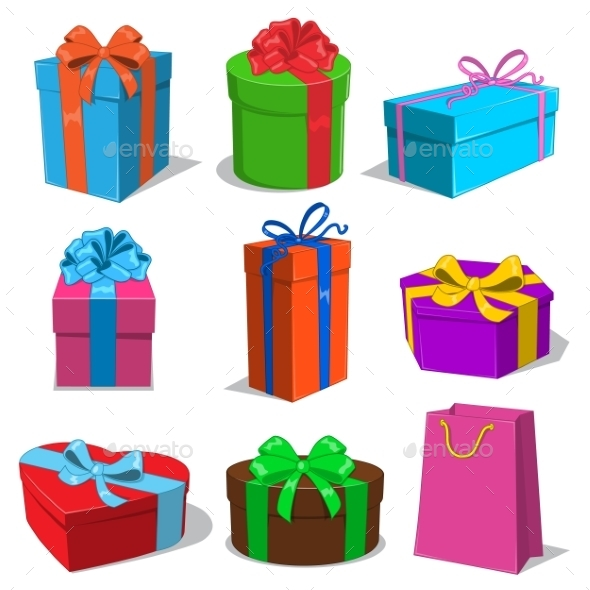 Present Boxes Collection.  - Birthdays Seasons/Holidays