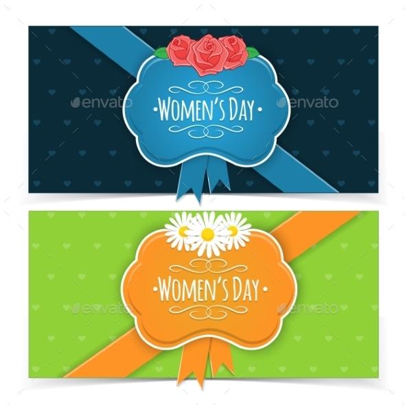 Women's Day Banners. - Decorative Vectors