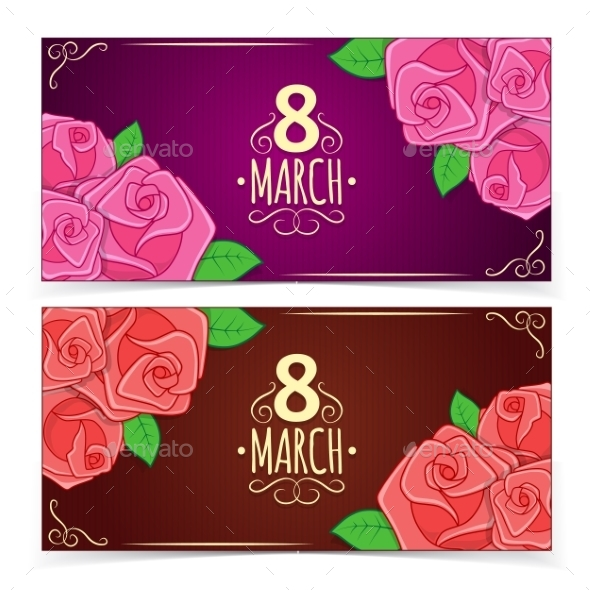 Banners for Women's Day. - Decorative Vectors