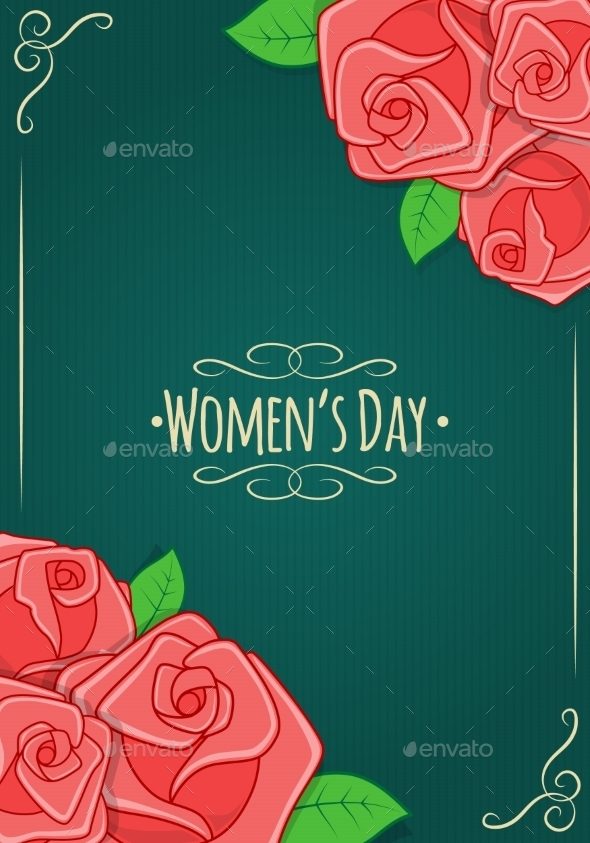 Eight 8 of March, Women's Day Background - Decorative Vectors