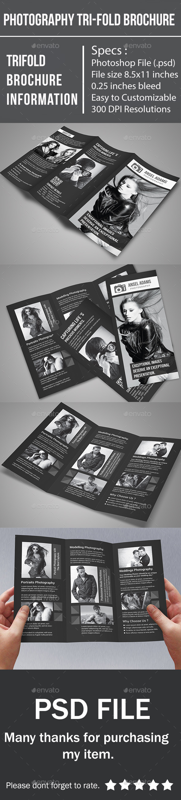 Photography Tri-Fold Brochure - Corporate Brochures