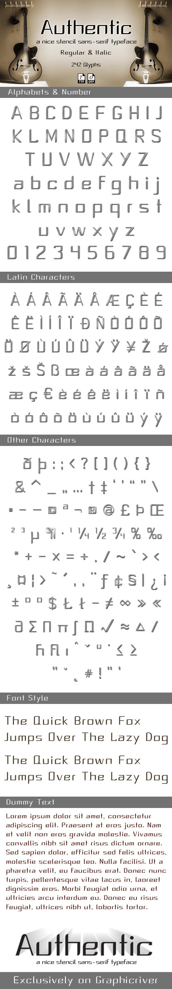 Authentic typeface - Sans-Serif Fonts