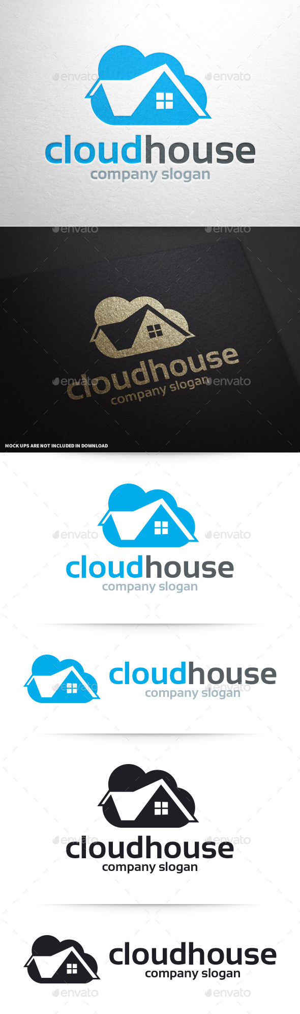 Cloud House Logo Template - Buildings Logo Templates