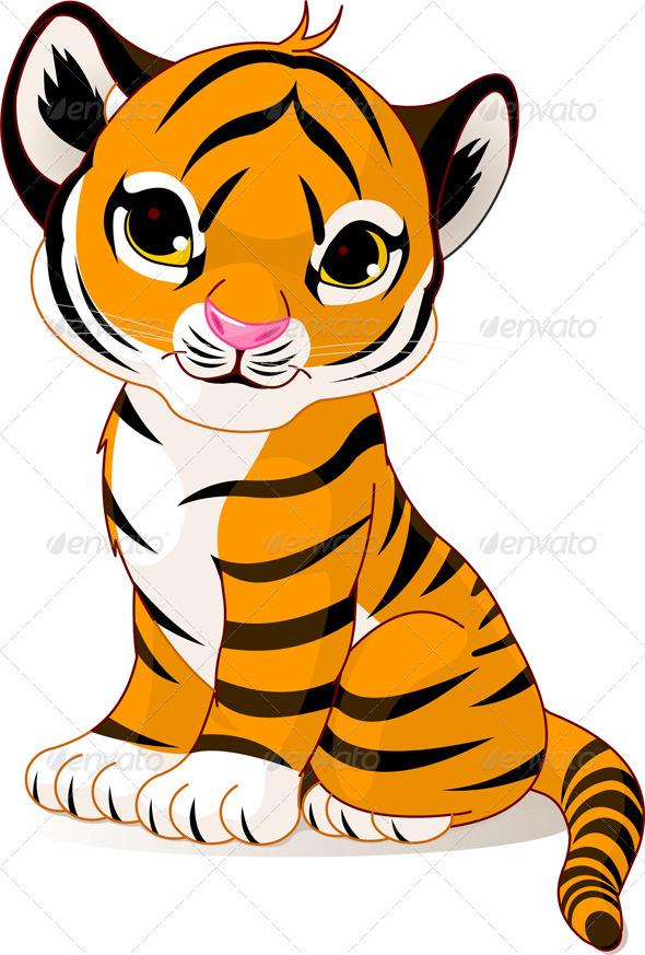 Cute tiger cub - Animals Characters
