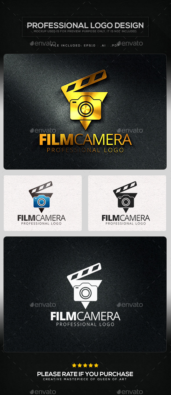 Film camera logo template by queen of art graphicriver for Camera film logo