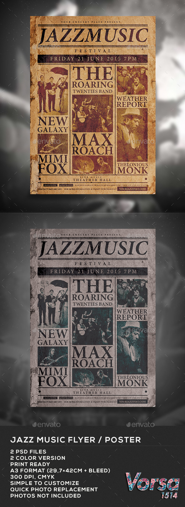 Jazz Music Flyer / Poster - Concerts Events