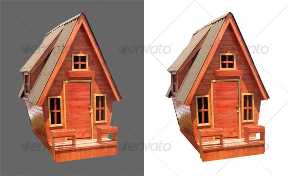 Children Wooden House - Activities & Leisure Isolated Objects